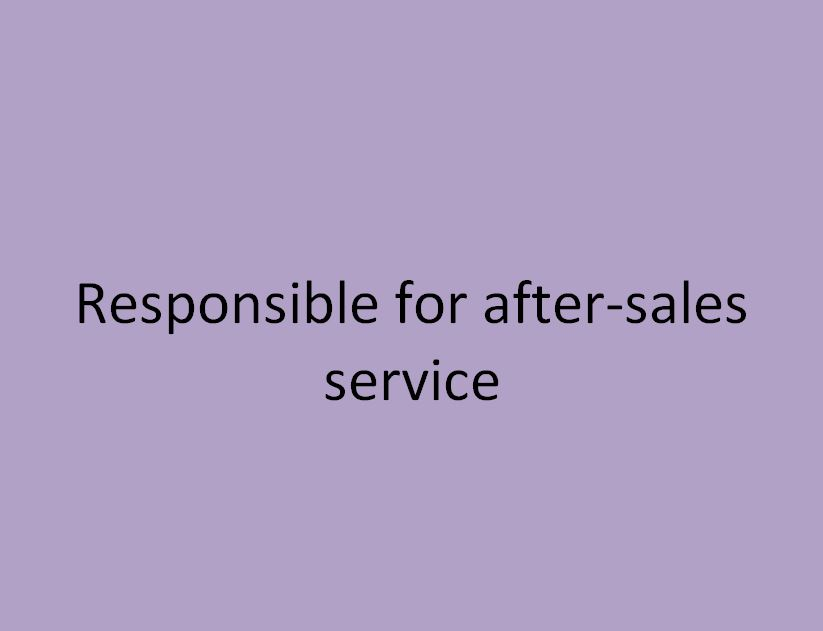 Responsable du service apres vente