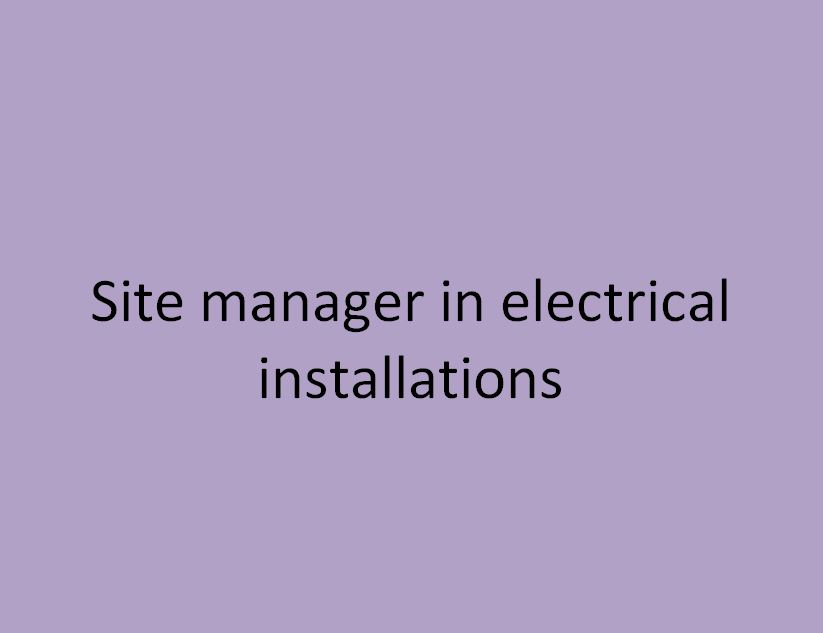 chef de chantier en installations électriques