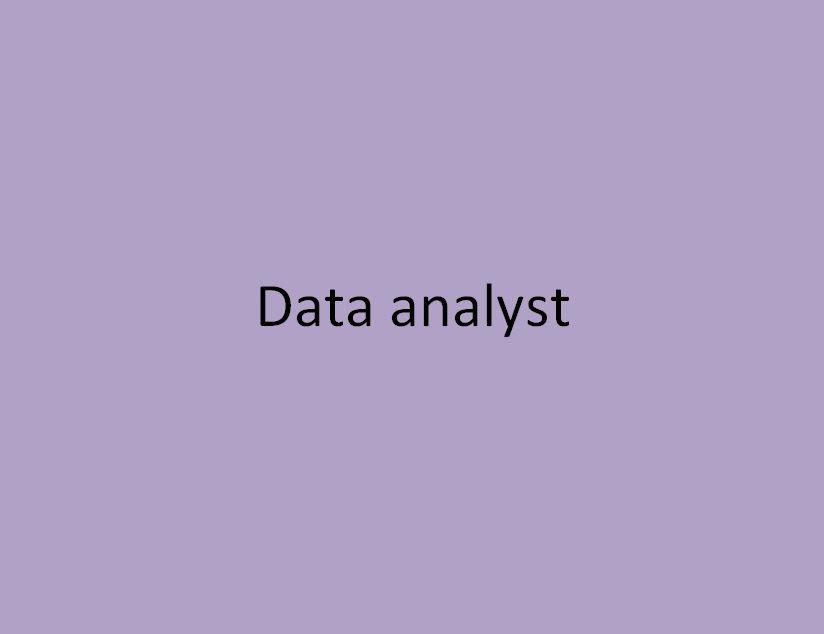 data analyste