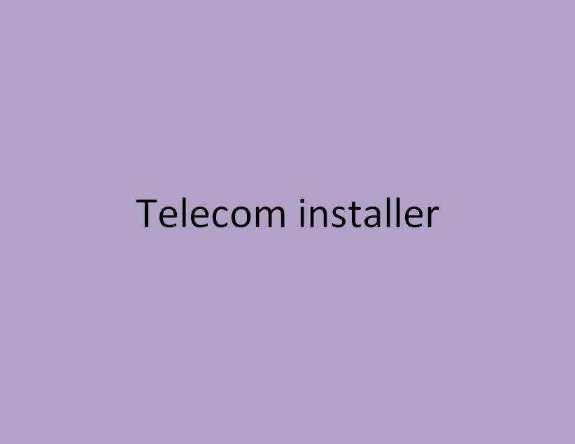 installateur en télécoms