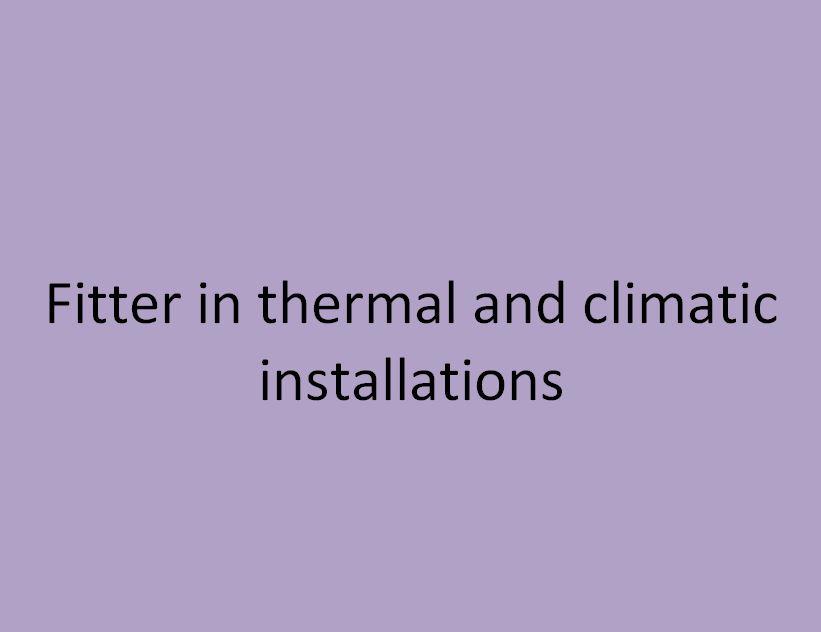 monteur en installations thermiques et climatiques