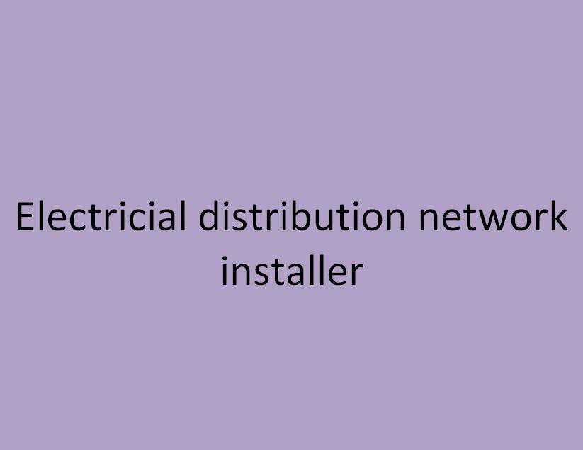 monteur en réseau de distribution électrique