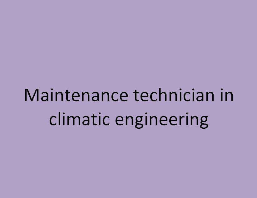 technicien de maintenance en génie climatique