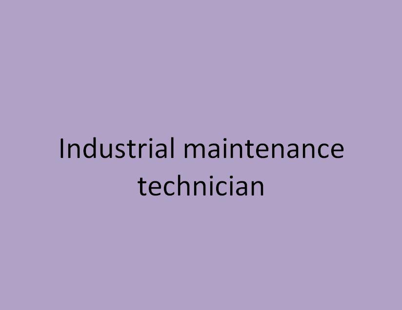 technicien de maintenance industrielle