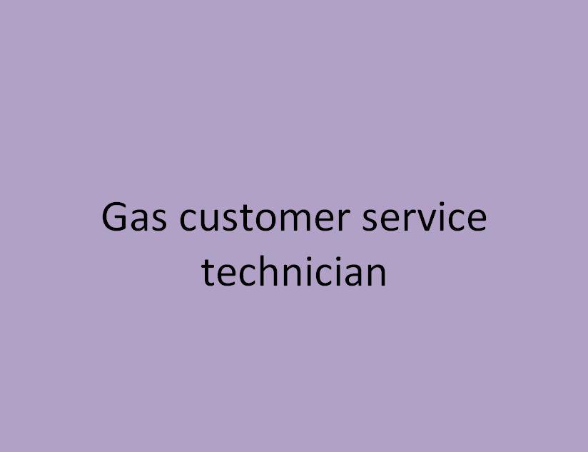 technicien d'intervention clientèle gaz