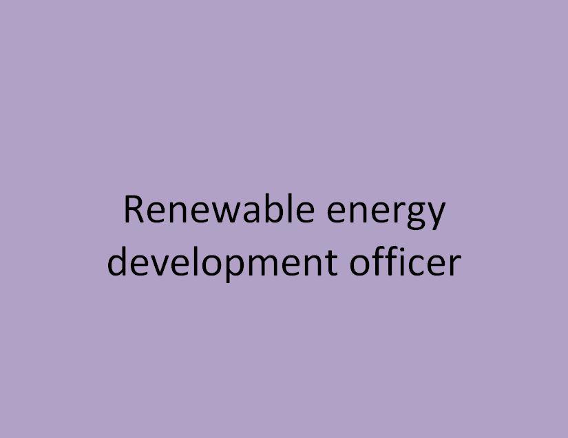 agent de developpement des energies renouvelables