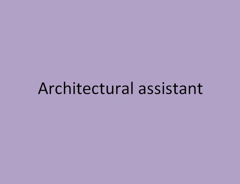 assistant en architecture