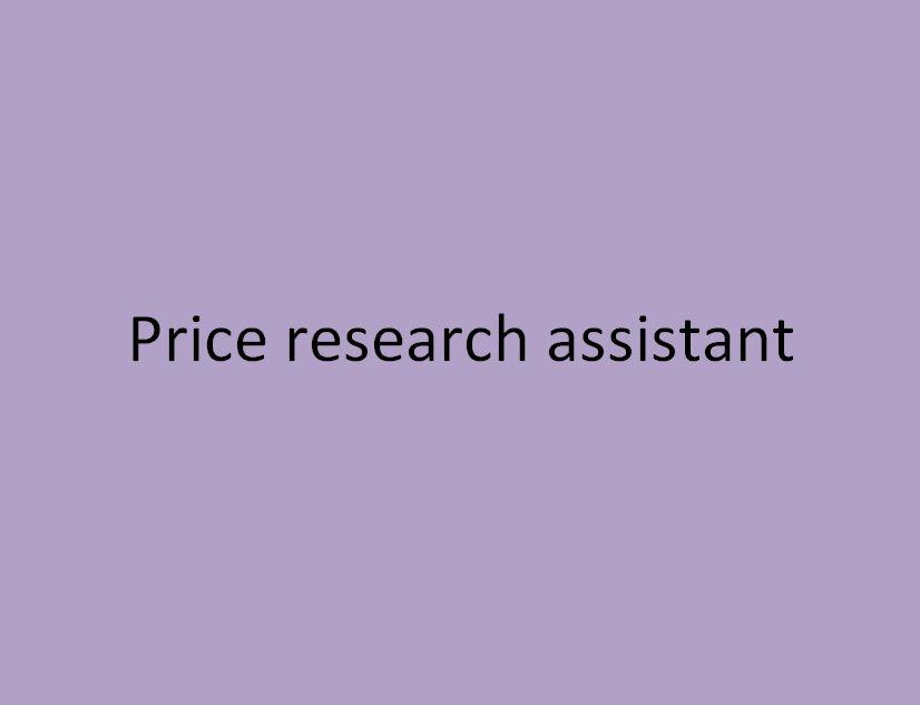 assistant en recherche de prix