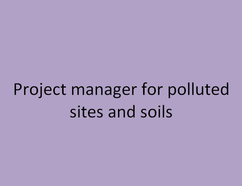 chef de projet site et sols pollués