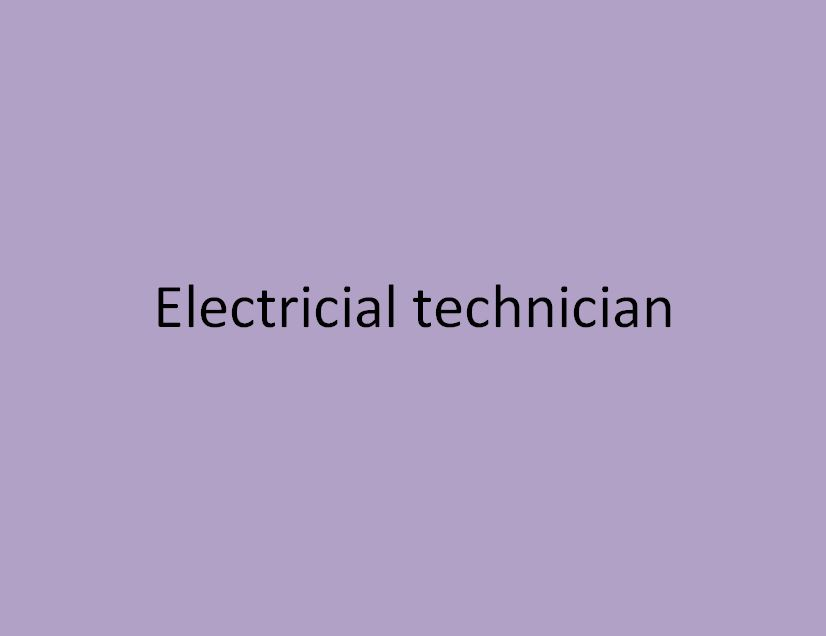 technicien electrotechnicien