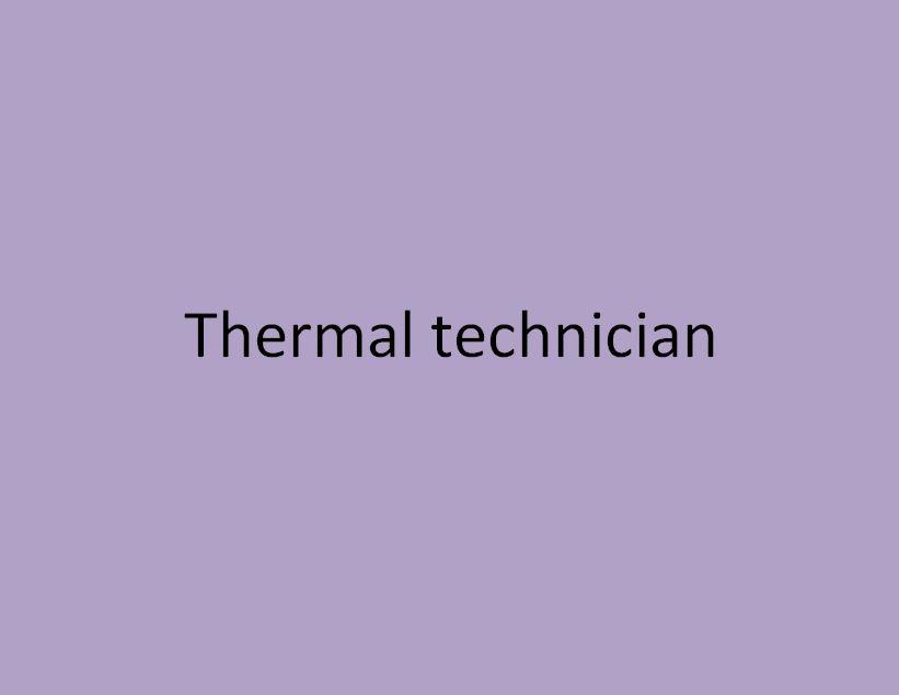 technicien thermicien